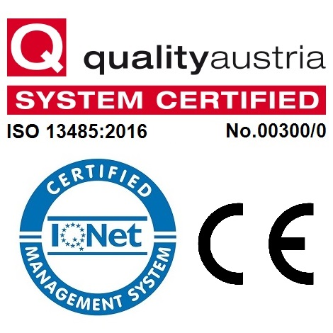 Successful certification: INTERNATIONAL STANDARD ISO 13485:2016